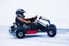 Schnee Karting Lizenzfreie Stockbilder