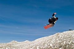 Schnee-Kostgänger in der Luft Stockfoto
