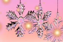 Schnee-Kristall stockbilder