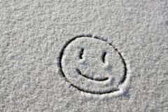 Schnee-Lächeln Stockfoto