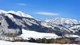 Schnee-Landschaft Stockfotos