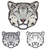 Schnee-Leopard-Gesichter Lizenzfreies Stockfoto