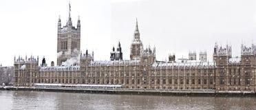 Schnee in London Stockfotos