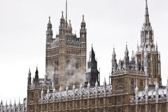 Schnee in London Stockbild