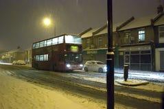 Schnee in London Stockbild