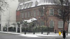 Schnee in London stock footage