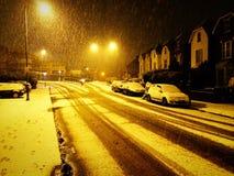 Schnee in London lizenzfreie stockbilder