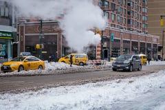 Schnee in Manhattan Lizenzfreie Stockfotos