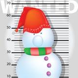 Schnee-Mann gewünscht Stockfoto