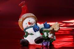 Schnee-Mann-Weihnachtsdekoration Stockfoto