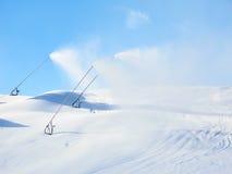 Schnee-Maschine schneit Lizenzfreies Stockfoto