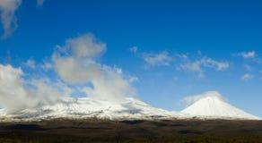 Schnee mit einer Kappe bedeckter Berg Lizenzfreie Stockfotografie