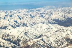 Schnee Mountain View von Bezirk Leh Ladakh, Northerteil von Indien lizenzfreies stockbild