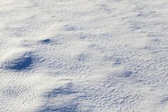 Schnee nach Schneefällen Stockfotografie