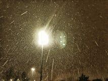 Schnee nachts Stockbilder