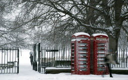 Schnee-Park Stockfoto