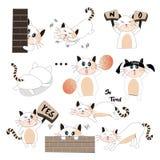 Schnee-Pfirsich-Kätzchen 3 Vektor Abbildung