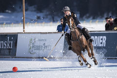 Schnee Polo World Cup Sankt Moritz 2016 Stockfoto