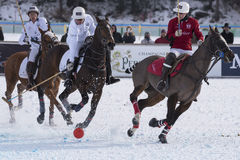 Schnee Polo World Cup Sankt Moritz 2016 Lizenzfreie Stockbilder