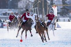 Schnee Polo World Cup Sankt Moritz 2016 Lizenzfreies Stockbild
