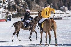 Schnee Polo World Cup Sankt Moritz 2016 Stockbilder