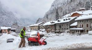 Schnee-Reinigung Lizenzfreies Stockbild