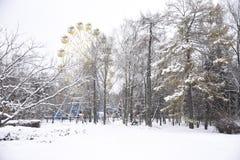 Schnee Riesenrad herein Yoshkar-Ola Stockbild