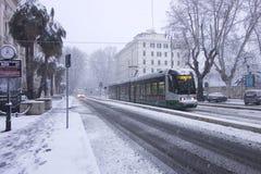 Schnee in Rom Lizenzfreies Stockbild