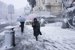 Schnee in Rom Lizenzfreie Stockfotografie