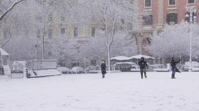 Schnee in Rom Stockbilder