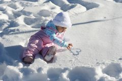 Schnee-Schätzchen-Inneres Lizenzfreies Stockfoto