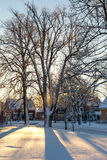Schnee-Schatten Lizenzfreie Stockfotografie