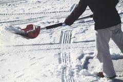 Schnee-Schaufel Stockfoto