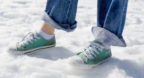Schnee-Schuhe Stockfoto