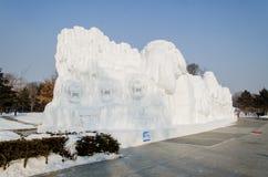 Schnee-Skulpturen am Harbin-Eis und am Schnee-Festival in Harbin China Lizenzfreie Stockbilder