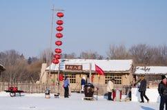Schnee-Skulpturen am Harbin-Eis und am Schnee-Festival in Harbin China Lizenzfreies Stockfoto