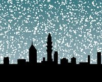 Schnee-Skyline 2 Stockfotos
