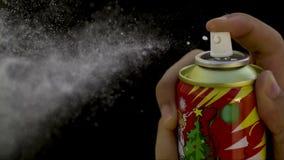 Schnee-Spray stock video footage