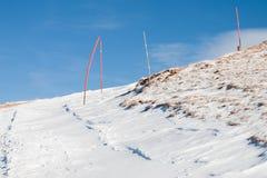 Schnee-Spur Lizenzfreie Stockfotos