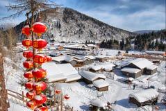 Schnee-Stadt Stockfotografie