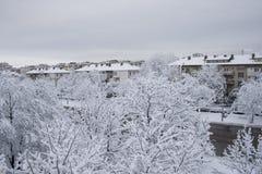 Schnee-Stadt Lizenzfreie Stockbilder