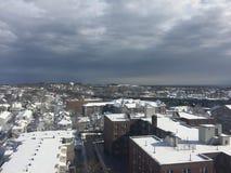 Schnee in Stamford, Connecticut Lizenzfreie Stockfotos