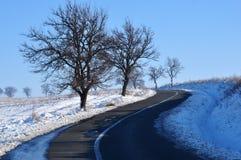Schnee-Straße Lizenzfreie Stockfotos