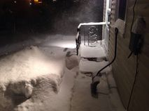 Schnee-Sturm Stockbild