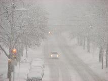 Schnee-Sturm in Milwaukee, Wisconsin Lizenzfreies Stockbild