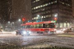 Schnee-Sturm in Toronto Stockfoto