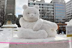 Schnee Sulpture Stockbild