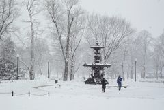 Schnee-Szenen Stockfoto
