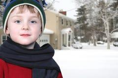 Schnee-Tag stockbild
