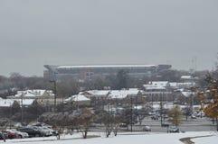 Schnee-Tag an der Universität von Alabama Stockbilder